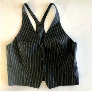 Sandra Angelozzi pinstripe vest, medium
